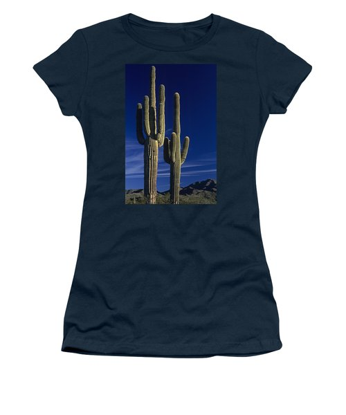 Saguaro Cactus Sunset Arizona State Usa Women's T-Shirt (Athletic Fit)