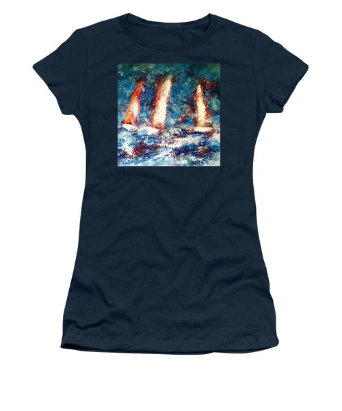 Sail On Women's T-Shirt (Athletic Fit)