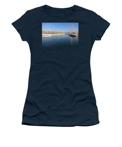 Sailboat Reflections Women's T-Shirt (Athletic Fit)