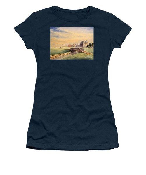 Saint Andrews Golf Course Scotland - 18th Hole Women's T-Shirt (Junior Cut) by Bill Holkham