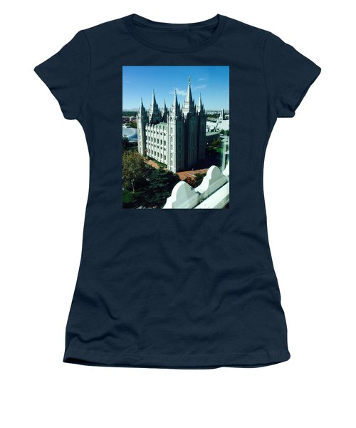 Salt Lake Temple The Church Of Jesus Christ Of Latter-day Saints The Mormons Women's T-Shirt (Junior Cut) by Richard W Linford
