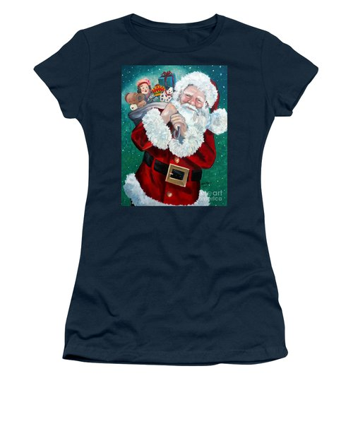 Santa's Coming To Town Women's T-Shirt (Athletic Fit)