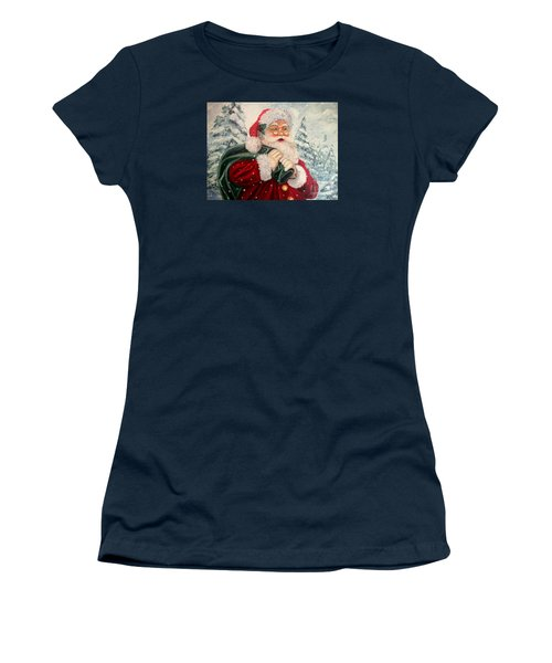 Santa's On His Way Women's T-Shirt (Athletic Fit)