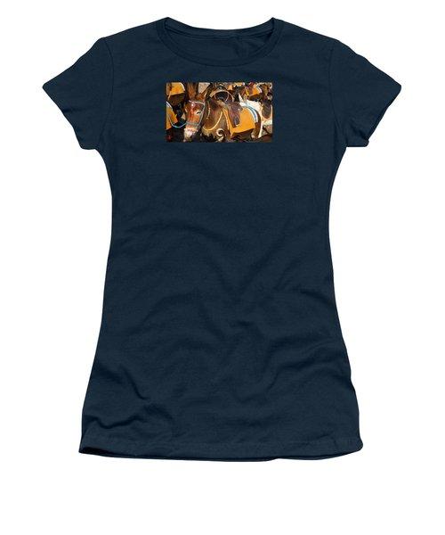 Santorini Donkeys Ready For Work Women's T-Shirt (Junior Cut) by Colette V Hera  Guggenheim