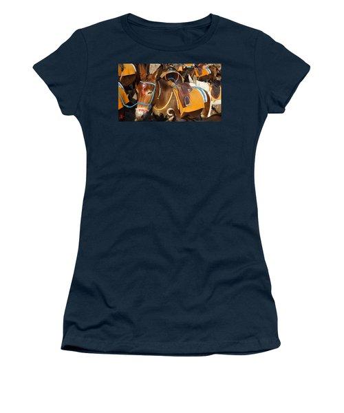 Santorini Donkeys Ready For Work Women's T-Shirt