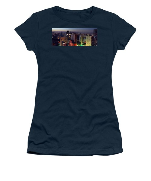 Sao Paulo Downtown At Dusk Women's T-Shirt (Athletic Fit)