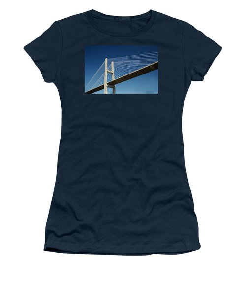 Savannah River Bridge Georgia Usa Women's T-Shirt (Athletic Fit)