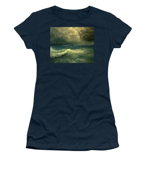 Sea And Sky Women's T-Shirt (Junior Cut) by Mikhail Savchenko