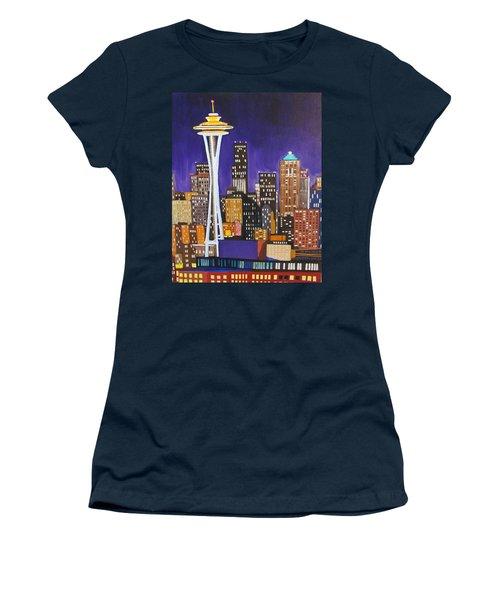 Seattle Skyline Women's T-Shirt