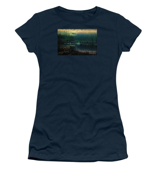 Sedges At Sunset Women's T-Shirt (Junior Cut) by Cynthia Lagoudakis