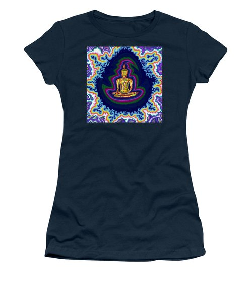 Seventh Heaven Buddha Women's T-Shirt (Athletic Fit)