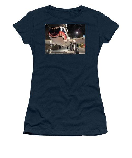 Women's T-Shirt (Junior Cut) featuring the photograph Shark Aircraft by Aaron Martens