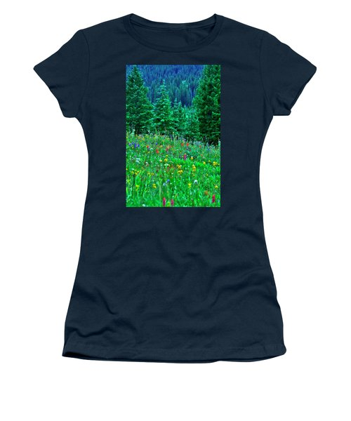 Shrine Pass Wildflowers Women's T-Shirt (Athletic Fit)