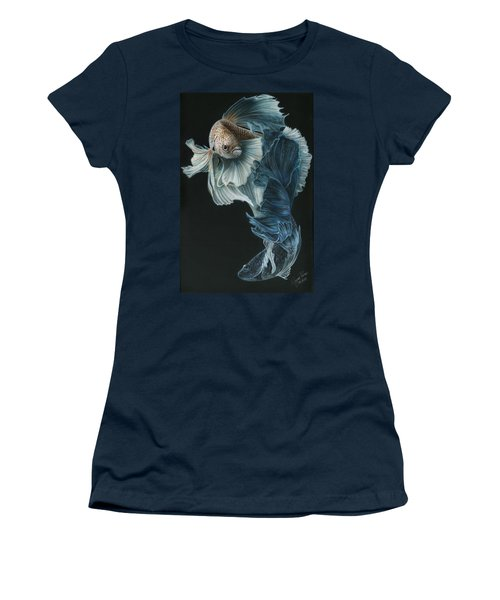 Siamese Fighting Fish Three Women's T-Shirt (Athletic Fit)