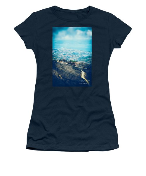 Women's T-Shirt (Junior Cut) featuring the photograph Sicilian Land After Fire by Silvia Ganora