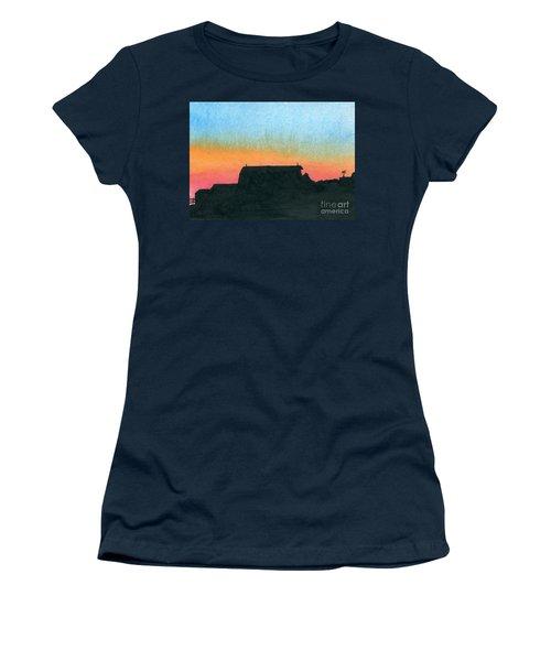 Silhouette Farmstead Women's T-Shirt (Junior Cut) by R Kyllo