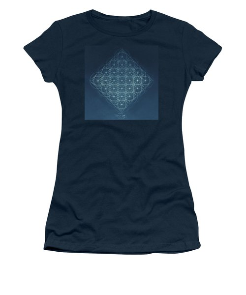Sine Cosine And Tangent Waves Women's T-Shirt (Junior Cut) by Jason Padgett