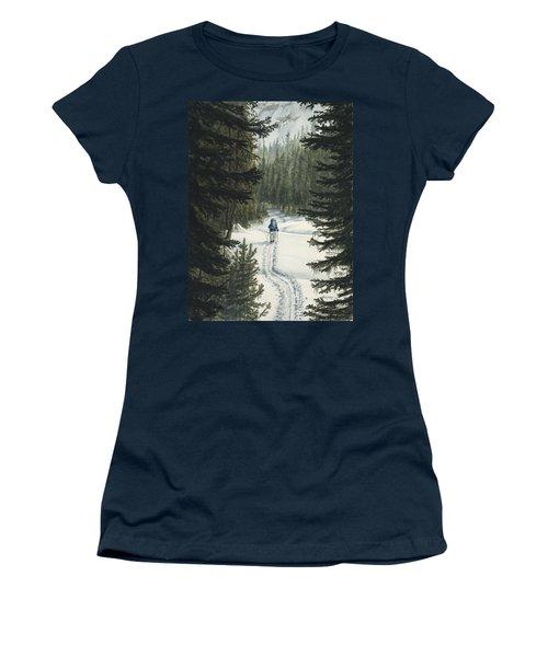 Skiing To Aneroid Basin Women's T-Shirt