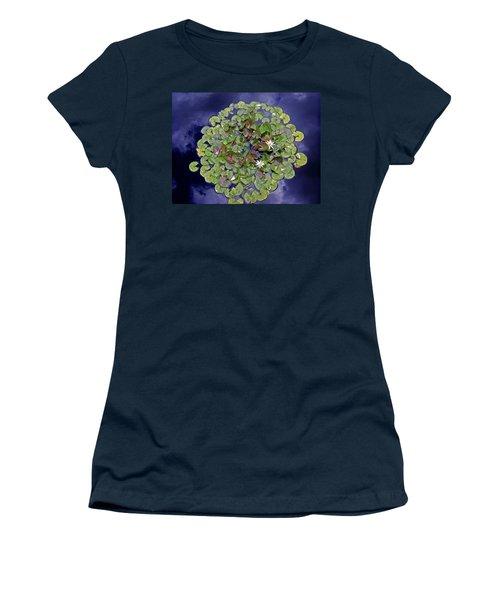 Sky Lilies Women's T-Shirt (Athletic Fit)