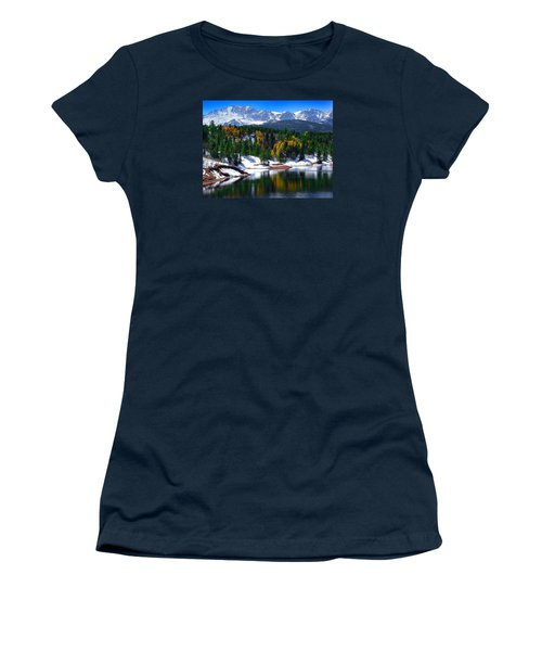 Snow Capped Pikes Peak At Crystal  Women's T-Shirt (Athletic Fit)