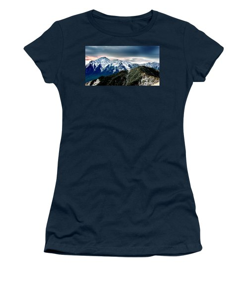 Women's T-Shirt (Junior Cut) featuring the photograph Snow Mountain by Yew Kwang