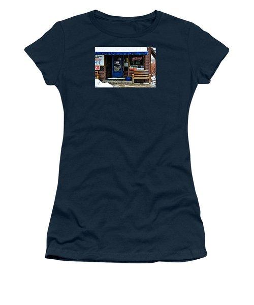 Sorry We're Open Women's T-Shirt (Junior Cut) by Mike Martin