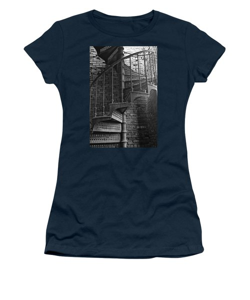 Spiral Staircase In B And W Women's T-Shirt