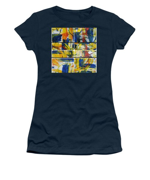 Women's T-Shirt (Junior Cut) featuring the painting Spring Part One by Sir Josef - Social Critic - ART