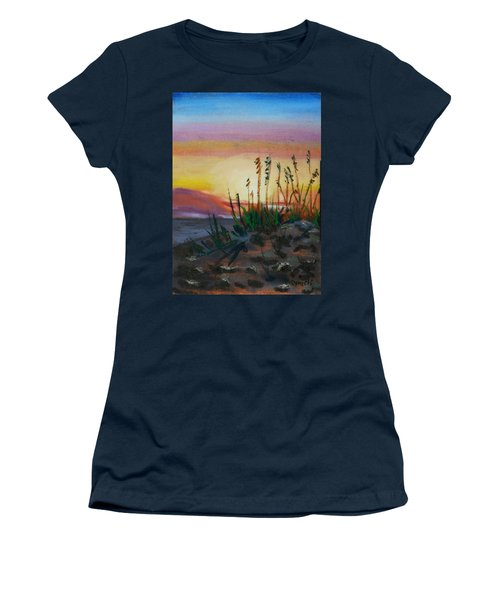 Beach At Sunrise Women's T-Shirt (Athletic Fit)