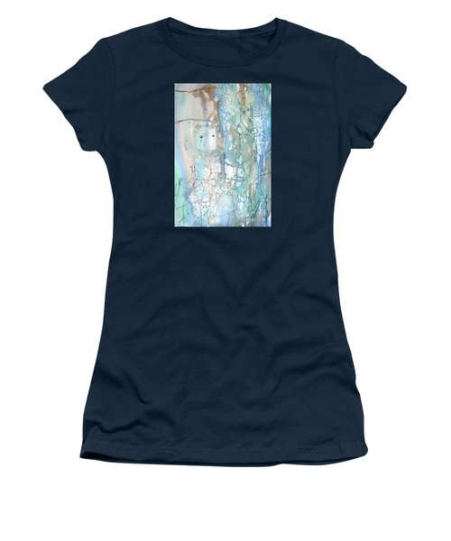 Women's T-Shirt (Junior Cut) featuring the painting Stained Cracks by Rebecca Davis