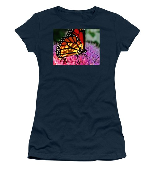 Stained Glass Monarch  Women's T-Shirt (Junior Cut)