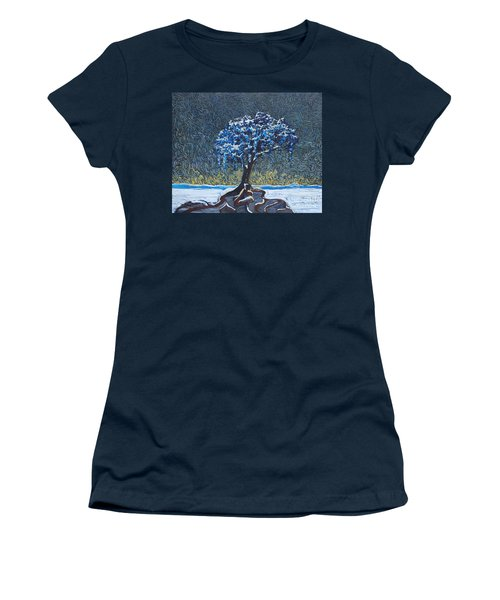 Standing Alone In The Snow Women's T-Shirt