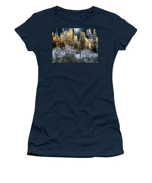 Starshine On A Snowy Wood Women's T-Shirt