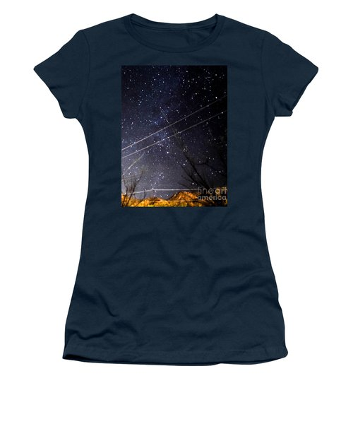Stars Drunk On Lightpaint Women's T-Shirt (Junior Cut) by Angela J Wright