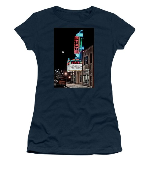 State Theater Women's T-Shirt (Junior Cut) by Jim Thompson