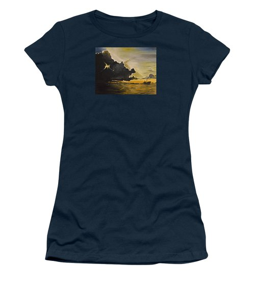Staying Ahead Of The Storm Women's T-Shirt (Junior Cut) by Donna Blossom