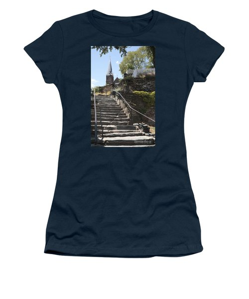 Stone Steps And Saint Peters Church At Harpers Ferry Women's T-Shirt