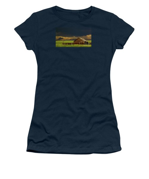 Storm Crossing Prairie 2 Women's T-Shirt (Junior Cut) by Robert Frederick