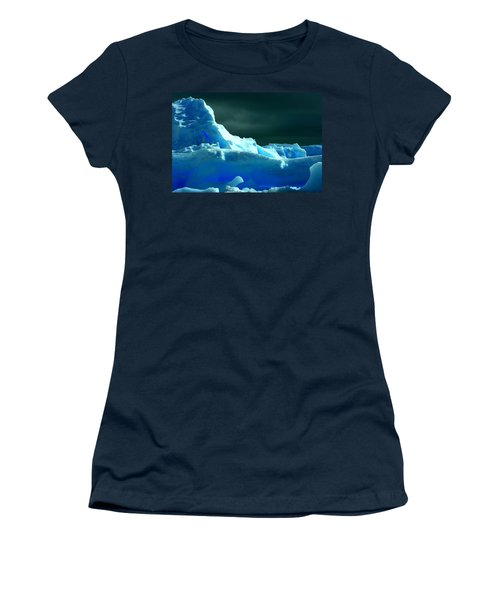 Women's T-Shirt (Junior Cut) featuring the photograph Stormy Icebergs by Amanda Stadther