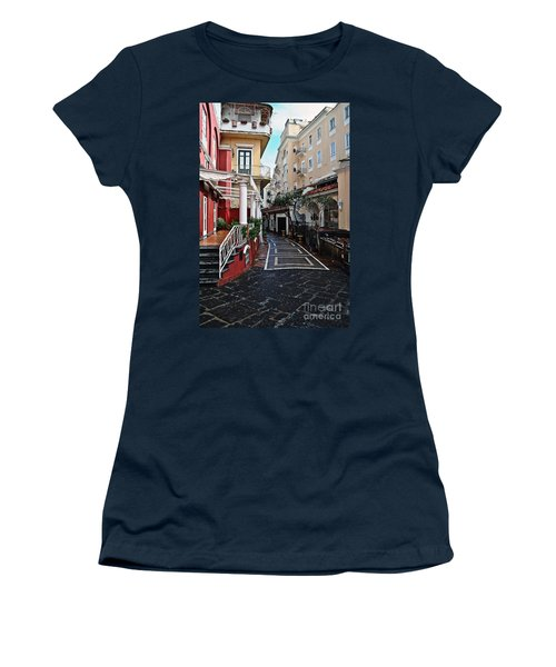 Street Of Capri Women's T-Shirt (Athletic Fit)