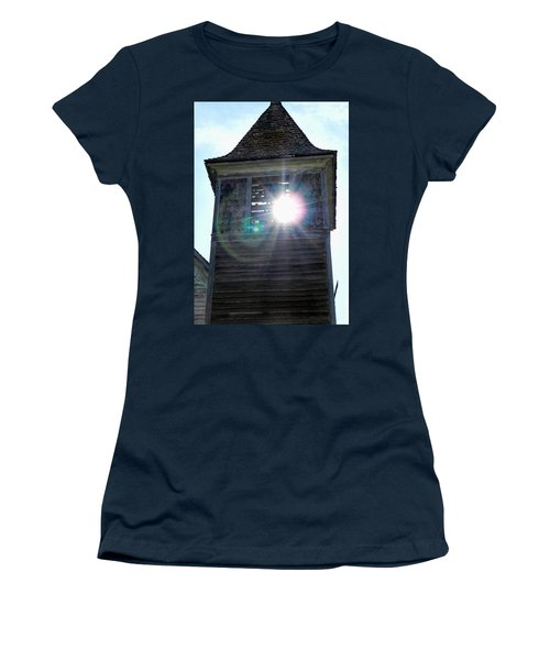 Sun Through The Steeple-by Cathy Anderson Women's T-Shirt (Athletic Fit)