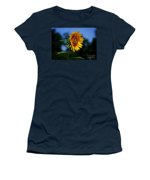 Sunflower With Honeybee Women's T-Shirt (Athletic Fit)