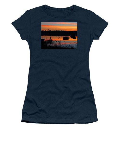 Women's T-Shirt (Junior Cut) featuring the photograph Sunrise Cove  by Dianne Cowen