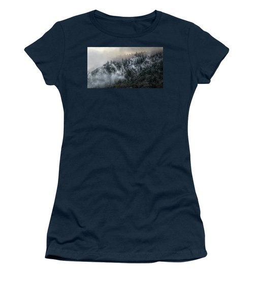 Women's T-Shirt (Junior Cut) featuring the photograph Sunrise In The Clouds by Melanie Lankford Photography