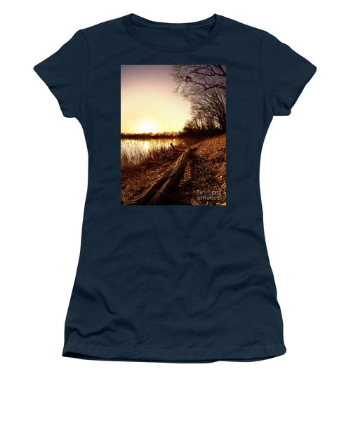 Sunset At The Lake Women's T-Shirt (Athletic Fit)