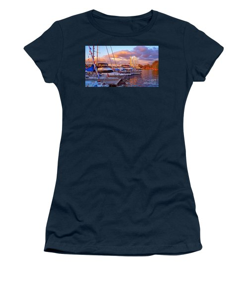Sunset Before The Show Women's T-Shirt (Junior Cut) by Gem S Visionary