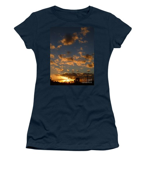 Sunset Clouds Women's T-Shirt (Athletic Fit)