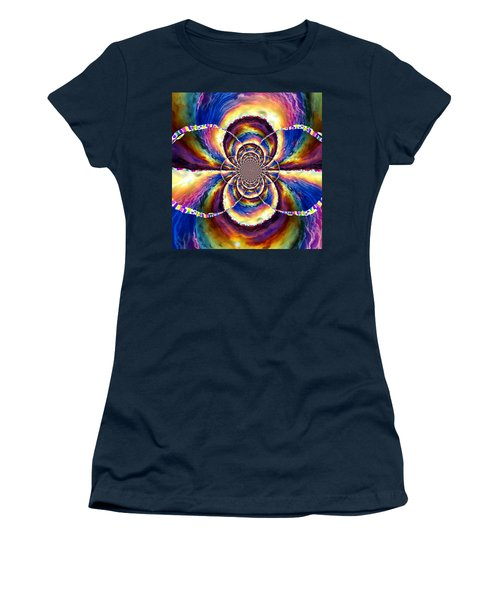Sunset Fractal Women's T-Shirt (Athletic Fit)