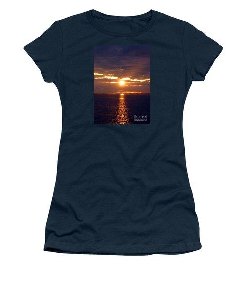 Sunset From Peace River Bridge Women's T-Shirt (Junior Cut) by Barbie Corbett-Newmin