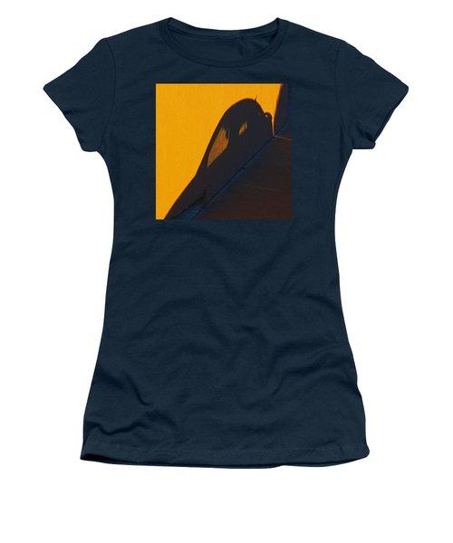 Women's T-Shirt (Junior Cut) featuring the photograph Sunset Shadow Car by John Hansen